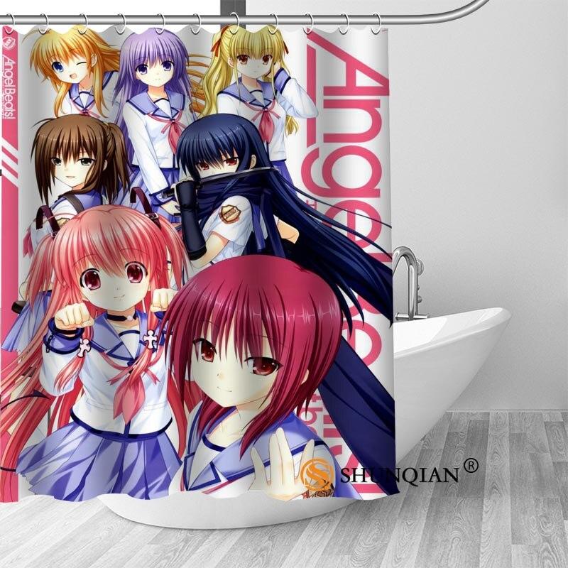 ShunQian personalizado Angel Beats nuevo Popular de Anime gran oferta Cortina de ducha baño impermeable para usted mismo cortina de baño regalo