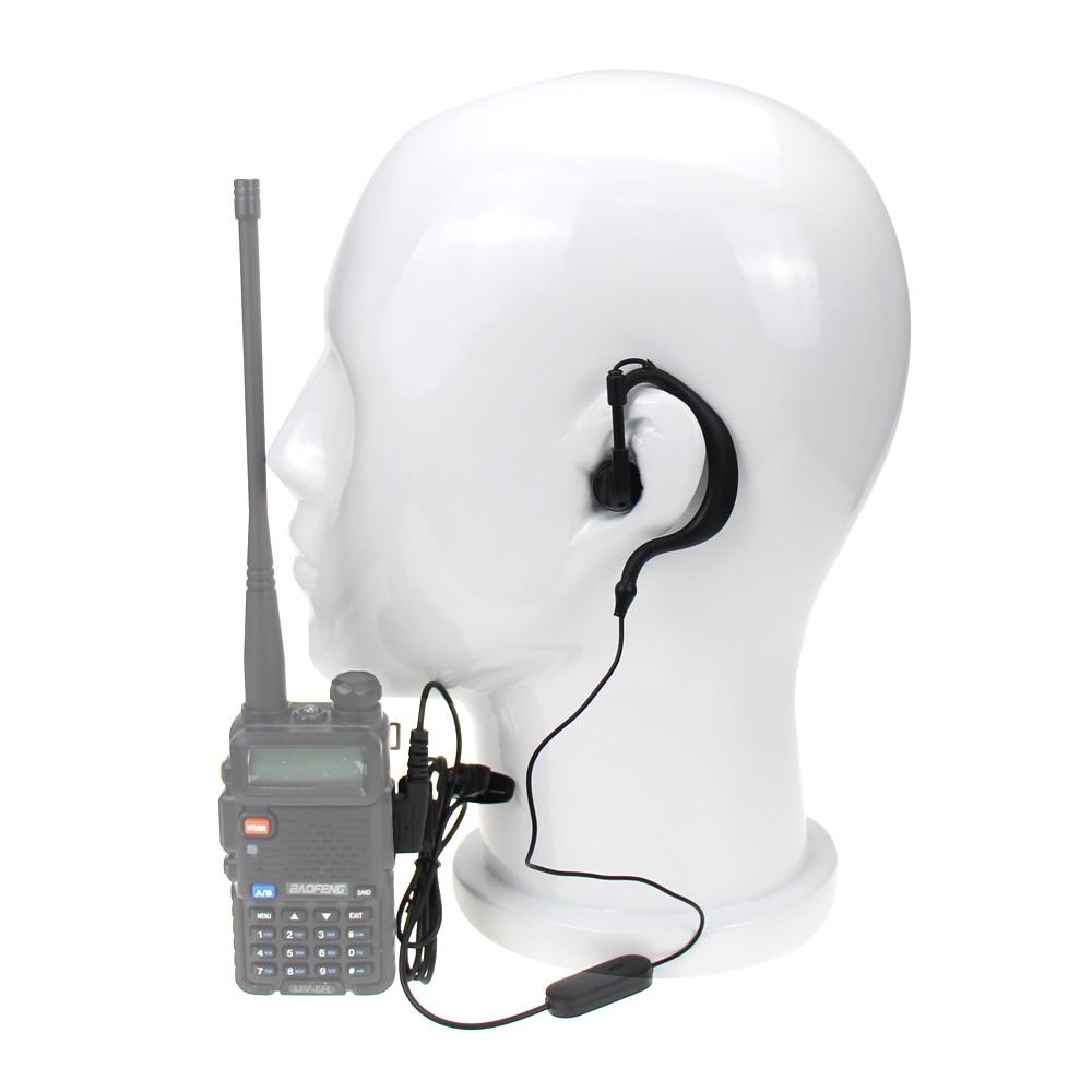Universal Baofeng UV-5R Walkie Talkie Headphone K Plug Headsets For Baofeng UV5R BF-888S For Kenwood TK3107 Earphone Ham Radio