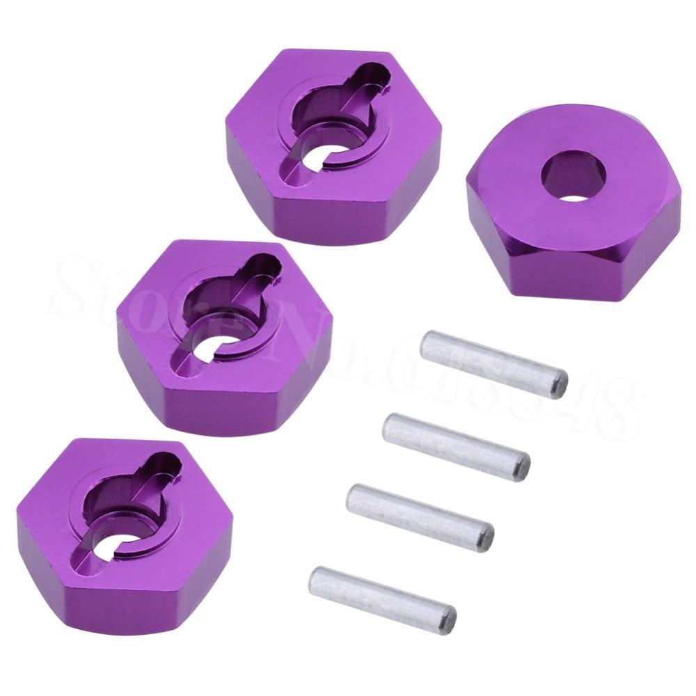 4 Uds. De aluminio, 12mm, rueda hexagonal con pernos 2x10mm, piezas de actualización para 1/10/8 ° modelo de coche HSP 102042 Hitmoto 33009