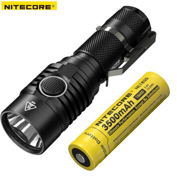 2018 New Nitecore MH23 CREE XHP35 HD 1800 Lumens LED USB Rechargeable Flashlight including Nitecore battery