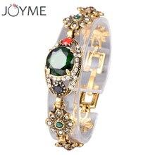 Joyme marque mosaïque vert autriche cristal rétro couleur or grande pierre fête mariage cadeau chanceux livraison gratuite