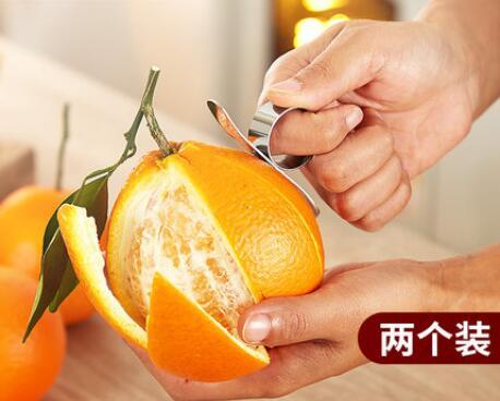 Pelador de naranjas de acero inoxidable, abridor de naranjas, anillo de naranja, cúter, pelador de pomelo, dial, artefacto de cocina naranja