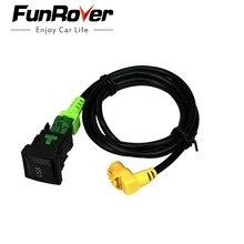 Adaptateur et interrupteur de câble USB   Voiture, pour Volkswagen RCD510 RNS315 RCD300 + VW Jetta MK6 Polo Touran Tiguan Scirocco Golf
