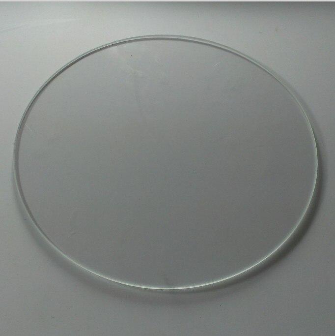 Impresión de placa de vidrio para Rostock Delta Kossel mini vidrio de borosilicato de placa para 3d impresora brillo fondo redondo 170mm