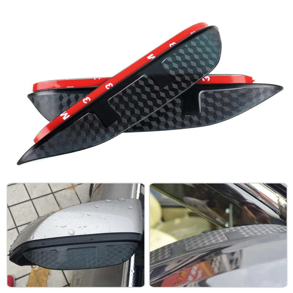 SNCN 1 par de protectores de cejas de lluvia para espejo de puerta lateral Visor para Mitsubishi Pajero Sport 2011-2017