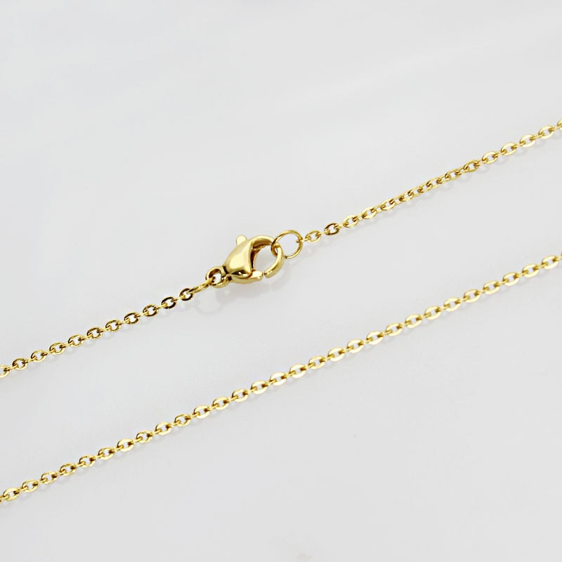 Moda joyería ancho 1,5mm titanio acero Color oro collar mujer joyería Accesorios