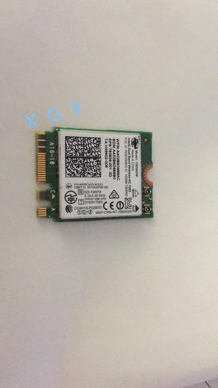 867M para Intel Wireless AC 7265 7265NGW 802.11ac NGFF WiFi de doble banda BT tarjeta 4,0