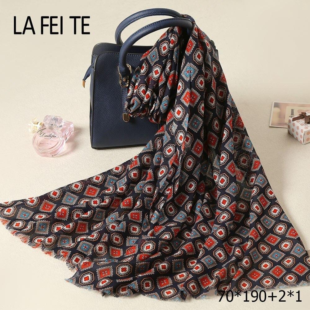 Las señoras de lujo 100% lana bufanda de viscosa para mujer estola hijab Foulard mujer largo chal de cachemir tipo pashmina de algodón de las mujeres bufanda de invierno