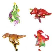 1pcs dinosaur Foil balloon animals helium balloon Overlord raptors triceratops dinosaurs Birthday party decor shower