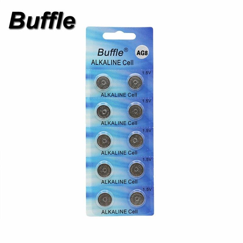 Buffle 10 unids/pack AG8 LR1120 391 SR1120 botón 191 LR55 celular moneda Batería alcalina