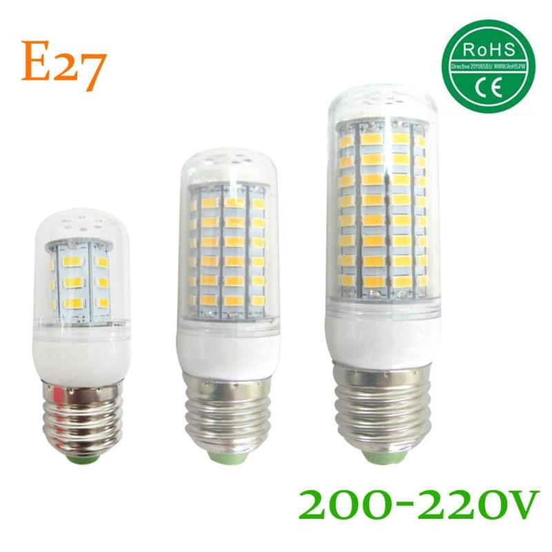Lamparas bombillas lâmpada led e27 smd conduziu a luz 5730 24 36 48 56 69 72 81 89 lampada levou IC lâmpada led e27 vela lâmpada 220 v