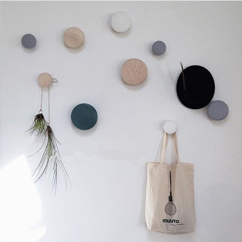 5 pçs/lote cor gancho criativo pendurado na parede de madeira pintada de alta qualidade chapéu casaco porta gancho cabide de decoração para casa