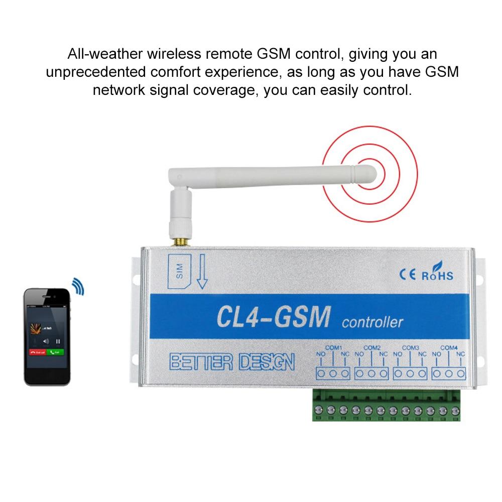 GSM SMS تحكم CL4-GSM الاستشعار اللاسلكية عن بعد مع صندوق سبائك الألومنيوم 4 التتابع