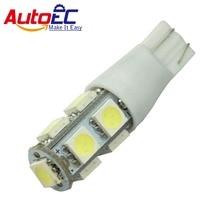AutoEC T10 led 9 smd 5050 168 194 w5w strobe Auto led strobe flash LED Lamp Side Marker Lampjes 2 MODUS 100 stks/partij # LB57