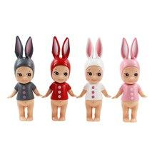 4pcs/lot 10cm Sonny Angel Figure Doll Cartoon Kewpie Toys Animals Rabbit PVC Action Figure Cute Model Collection Toys Gifts
