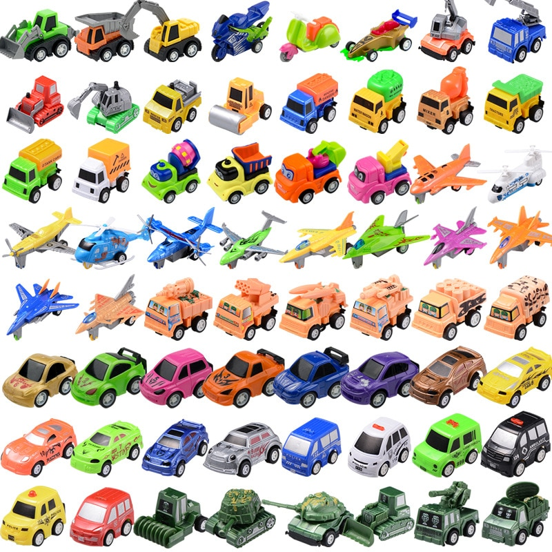 5pcs korean cartoon power coin Watch Car character bus Pull back Miniature Toys for children Birthda