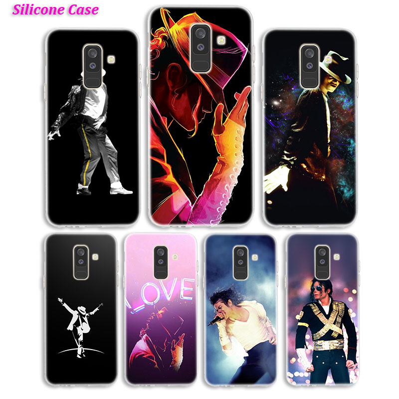 Caja del teléfono de silicona rey de baile de Michael Jackson para Samsung Galaxy A8S A6S A9 A8 estrella A7 A6 A5 A3 Plus 2018 2017 2016 cubierta