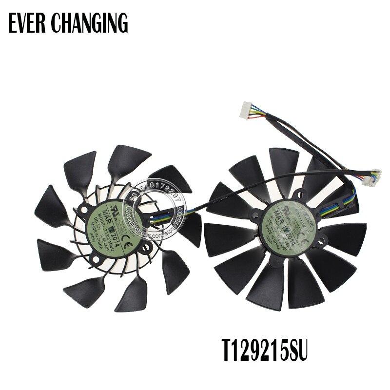 Оригинальный вентилятор охлаждения 95 мм T129215SU DC 12 В 0.5A для ASUS GTX760 780 780TI R9 280 290 R9 280X 290X R9 390 390X GTX970 VGA
