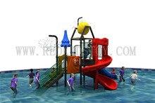 Exporté vers le moyen-orient antirouille eau enfants aire de jeux CE certifié enfants toboggan HZ-11601