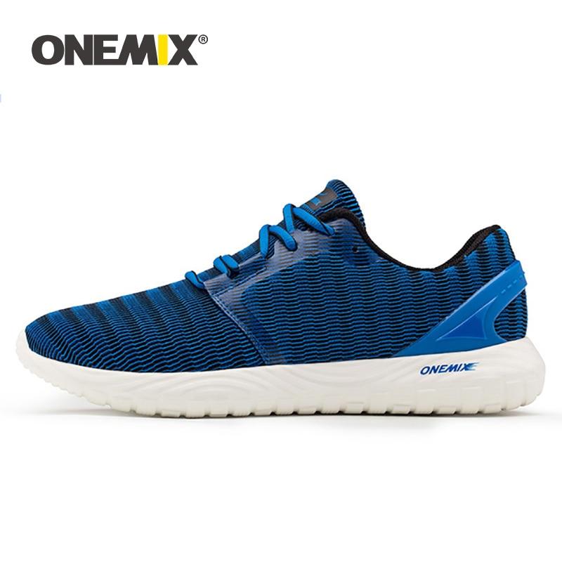 ONEMIX Laufschuhe Für Männer Atmungsaktive Mesh Sportschuhe Super Licht Outdoor Schwarz Weiß Sport Schuhe Walking Jogging Schuhe