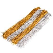 1mm ouro prata fio corda elástica para tag de jóias elástico linha elástica corda núcleo 2 cores comprimento 50 m