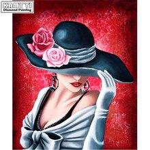Elmas nakış 5D DIY elmas boyama mozaik çapraz dikiş şapka kadın el yapımı ev dekorasyon boyama LK1