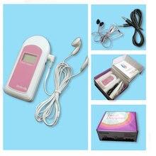 Envío gratis la CE y la FDA bebé sonido B bolsillo Doppler Fetal pantalla LCD Gel libre para las mujeres embarazadas a casa/Hospital Rosa Blu
