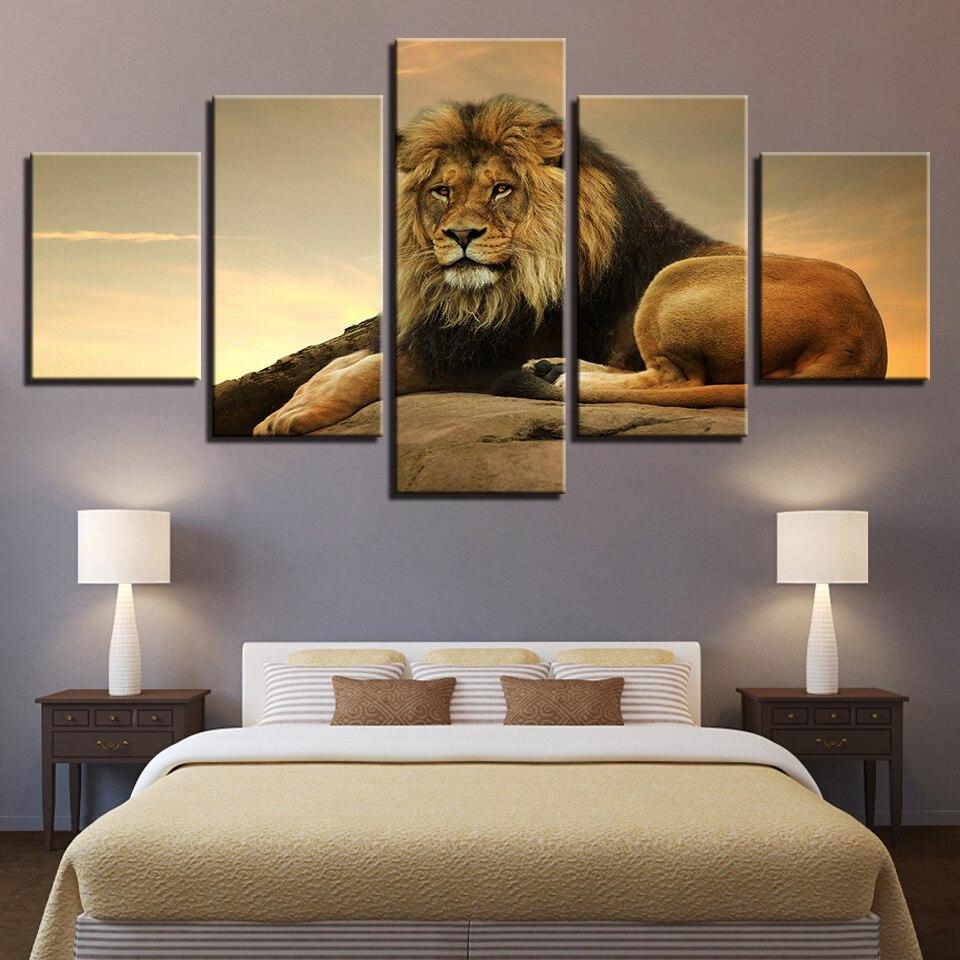 Impresión Animal perro oso León gato pinturas en color póster pared color de impresión 5 Panel decoración del hogar sala de estar abstracto 227