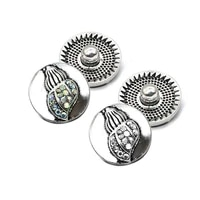 wholesale w233 3d 18mm rhinestone metal snap button for bracelet necklace jewelry for women fashion gift accessorie