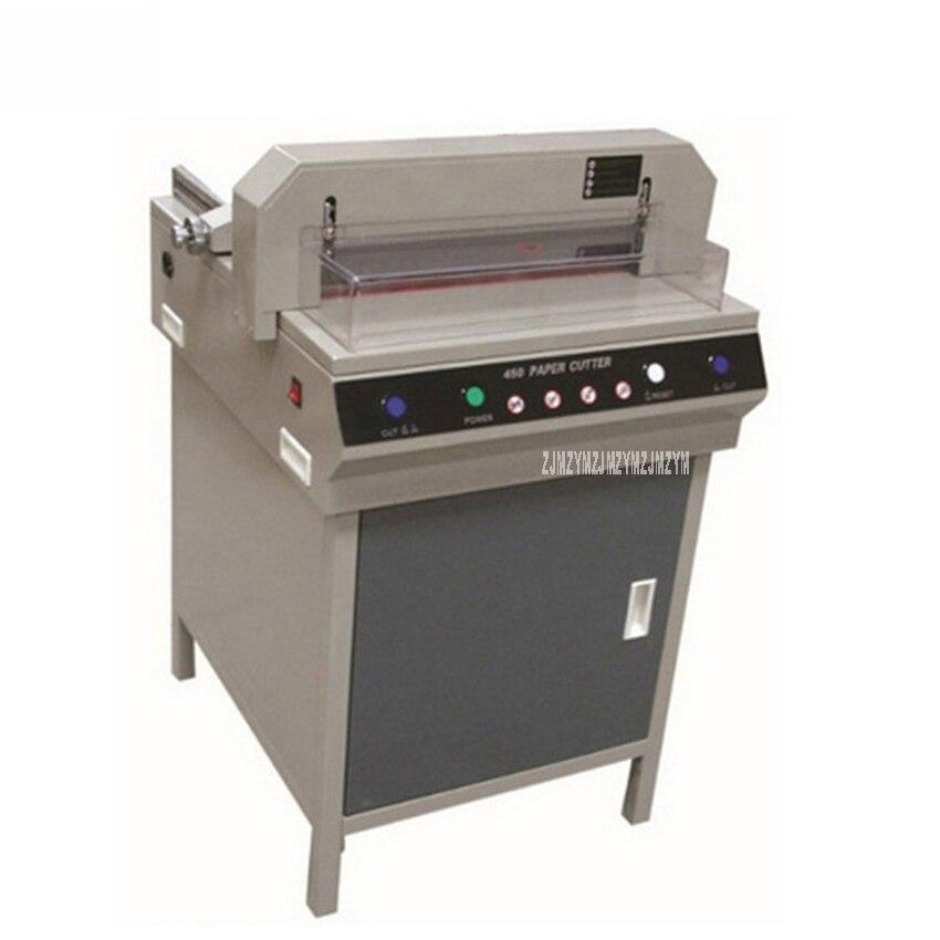 450V + 220V/110V 750W شبه التلقائي كبيرة الكهربائية ورقة آلة قطع الانتهازي التلقائي الصحافة ناحية دفع ورقة القاطع جهاز