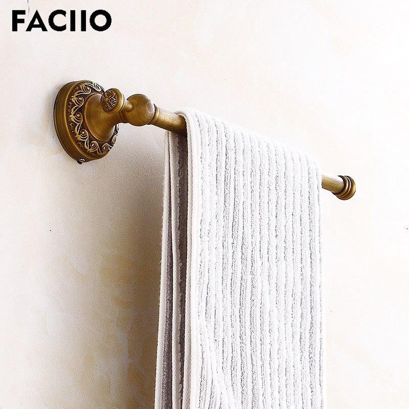 FACIIO latón baño montado en la pared de Hardware toalla titular único...