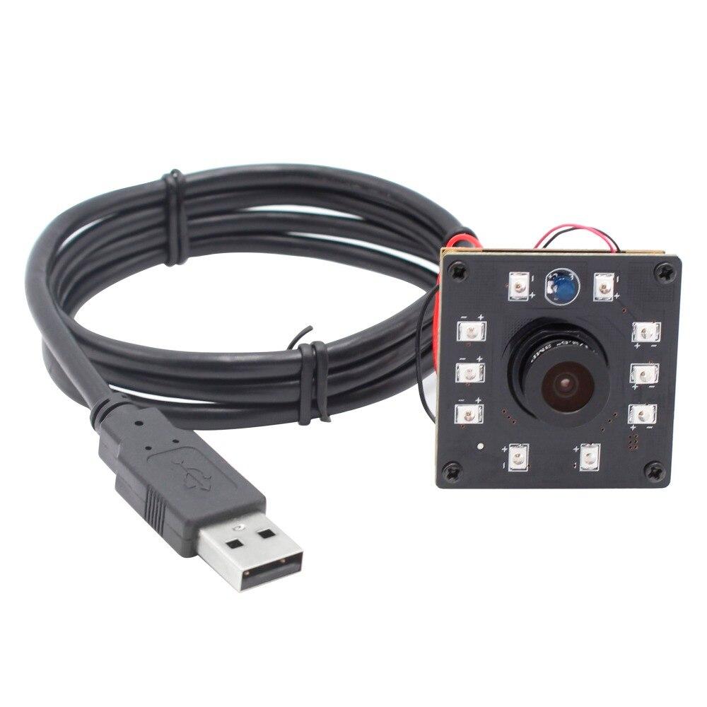 ELP 720P Mini Módulo de cámara usb IR CUT infrarrojos visión nocturna CMOS OV9712 tablero de la cámara para Android Linux Windows MAC