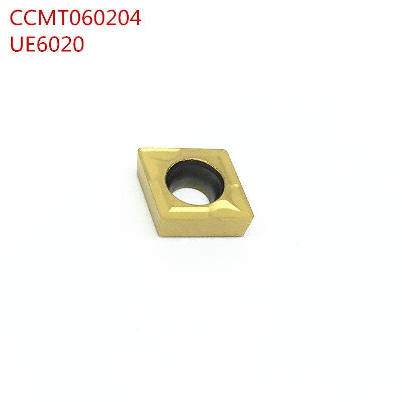 100 قطعة CCMT060204 UE6020 كربيد إدراج أداة تحول أداة التصنيع باستخدام الحاسب الآلي أداة تحول الداخلية أو أداة تحول الخارجي