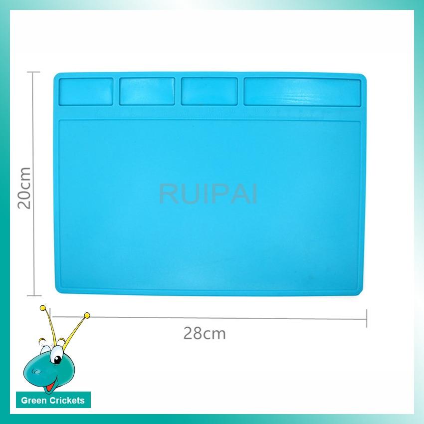Термостойкий нескользящий коврик для ремонта часов, 28 мм х 20 мм