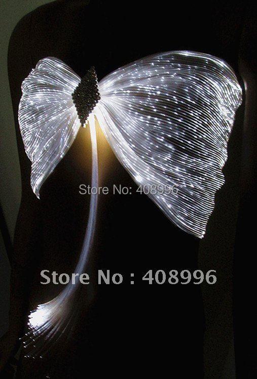 Sexy optical fiber luminous bra for club performance/fashion show//Show Clothing/01