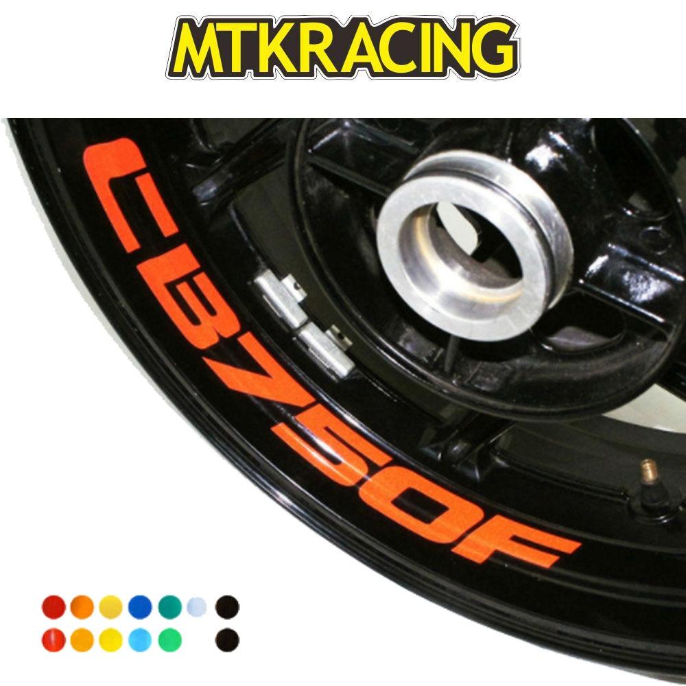 MTKRACING CB750F 8 X calcomanías de borde interno personalizado rueda pegatinas reflectantes rayas para HONDA CB 750F