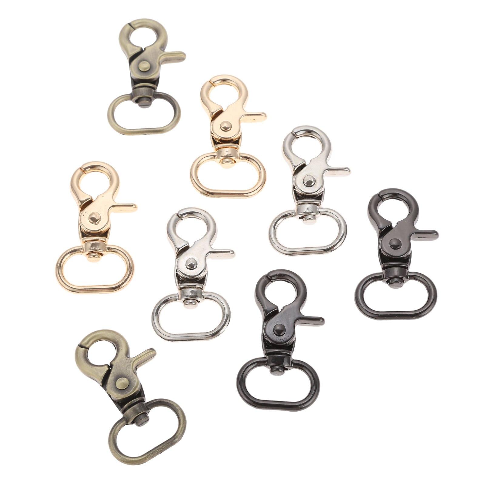 5Pcs Metal Belt Buckle Strap Bag Clasps Lobster Swivel Trigger Clips Snap Hooks Handbag Buckles Key Rings Keychains Accessories