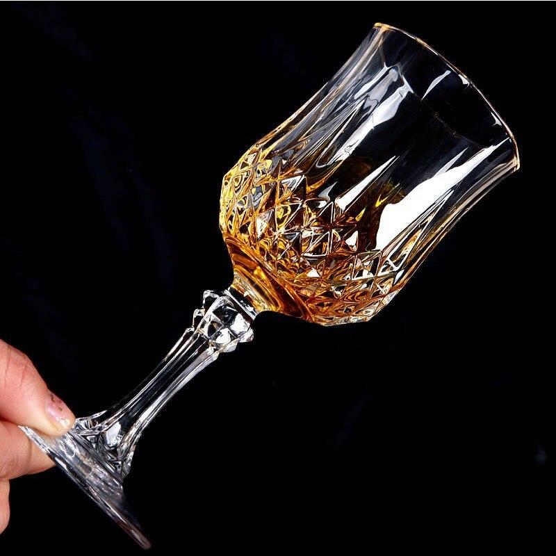 1 Uds. Copa de vino tallboy sin plomo, Copas de cristal de alta capacidad para cerveza, copas de vino para Bar, Hotel, vasos de marca Vaso Goblet pokal