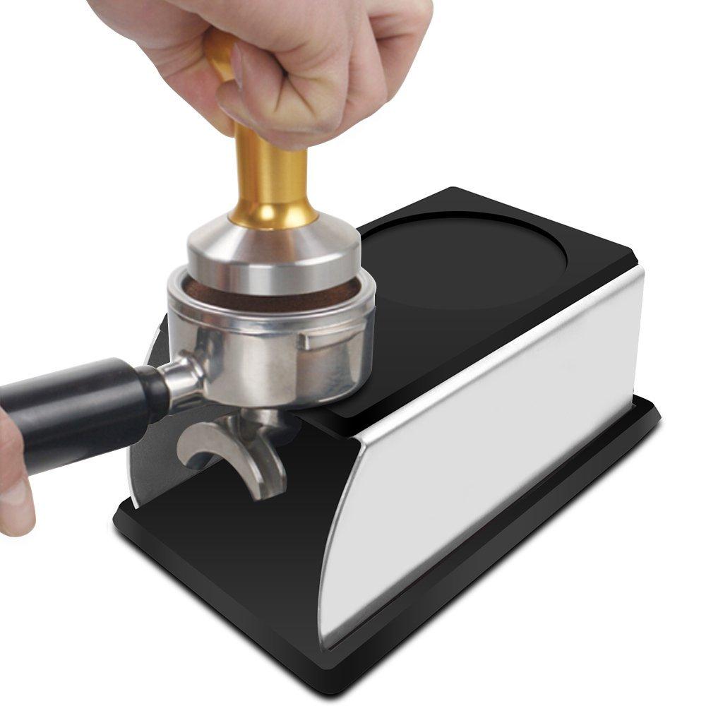 مدقة قهوة إسبريسو من السيلكون, مدقة قهوة مصنوعة من الصلب المقاوم للصدأ ، مدقة بنظام الدك ، حامل لأغراض القهوة