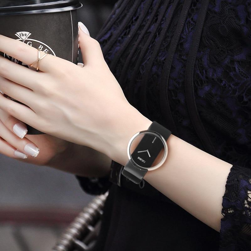 DOM Watches women top brand luxury Casual Leather Quartz watch female Clock girl dress wrist relogio montre femme saati LP-205 enlarge