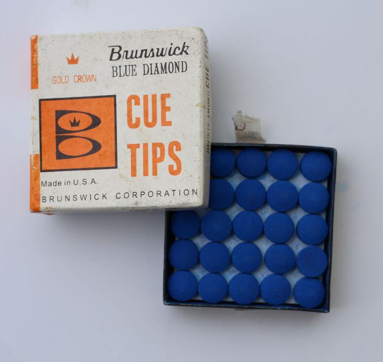 50pcs / lot 13 mm brunswick  tips billiard pool cue tips  made in china