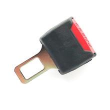 2 Color 1 Pc Car Seat Belt Clip Extender Safety Seatbelt Lock Buckle Plug Thick Insert Socket Black / Grey