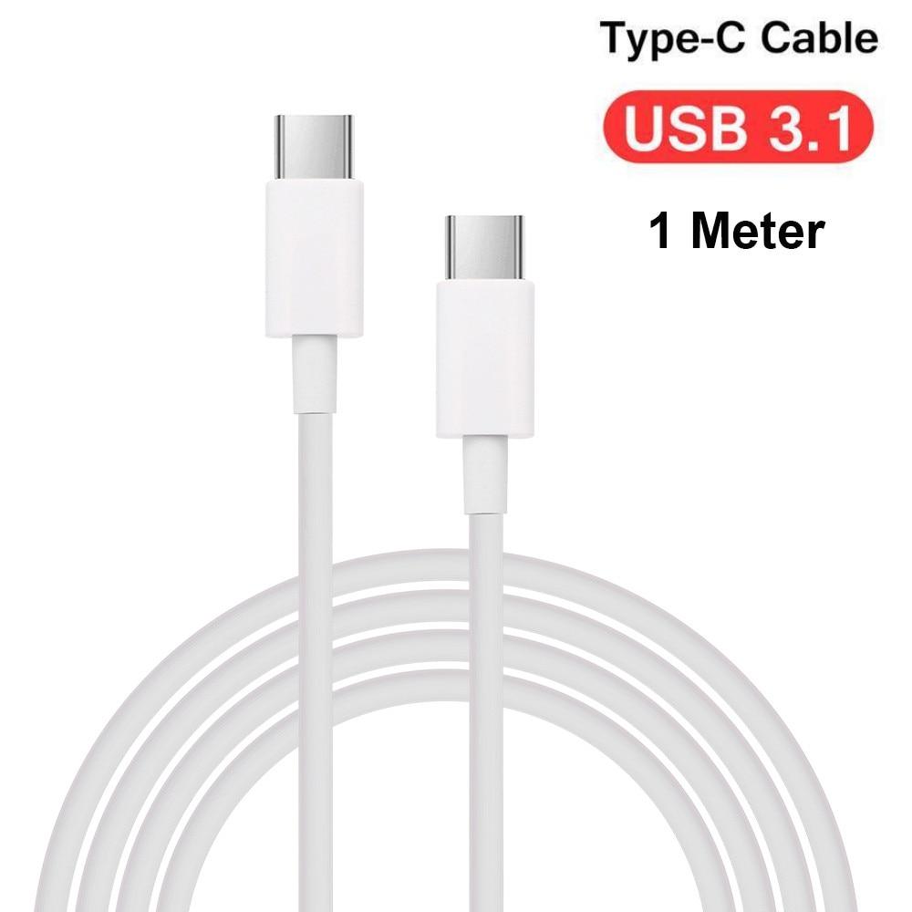 Cable de carga rápida de sincronización de datos tipo C de doble cabeza conector de sedal 1M para Macbook para Ipad Pro 11/12, 9 pulgadas