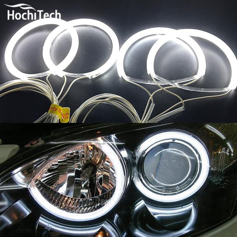 Комплект фар HochiTech ccfl с ангельскими глазами, белый, 6000k, ccfl, halo, кольца для Mazda 3, mazda3, 2002, 2003, 2004, 2005, 2006, 2007