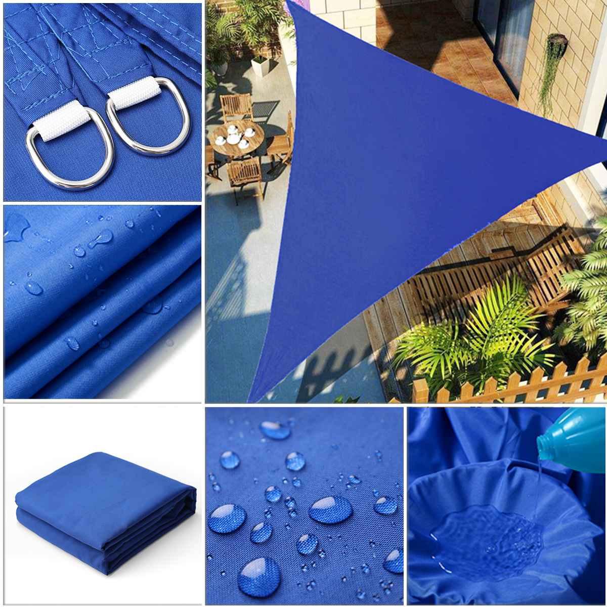 Sombra resistente al agua vela Anti-UV parasol red al aire libre jardín protector solar cortina bloqueadora solar tela red planta invernadero cubierta de coche