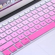 """Nowy 1pc Rainbow silikonowa klawiatura skrzynki pokrywa skóry Protector dla iMac Macbook Pro 13 """"15"""" okładka Protector"""