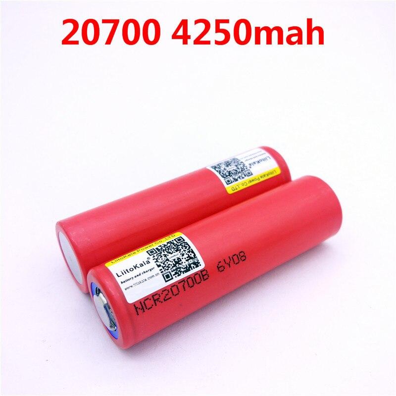 Батарея Liitokala 20700B 20700 4250 мАч, высокочастотная батарея NCR20700B, 2 шт./лот