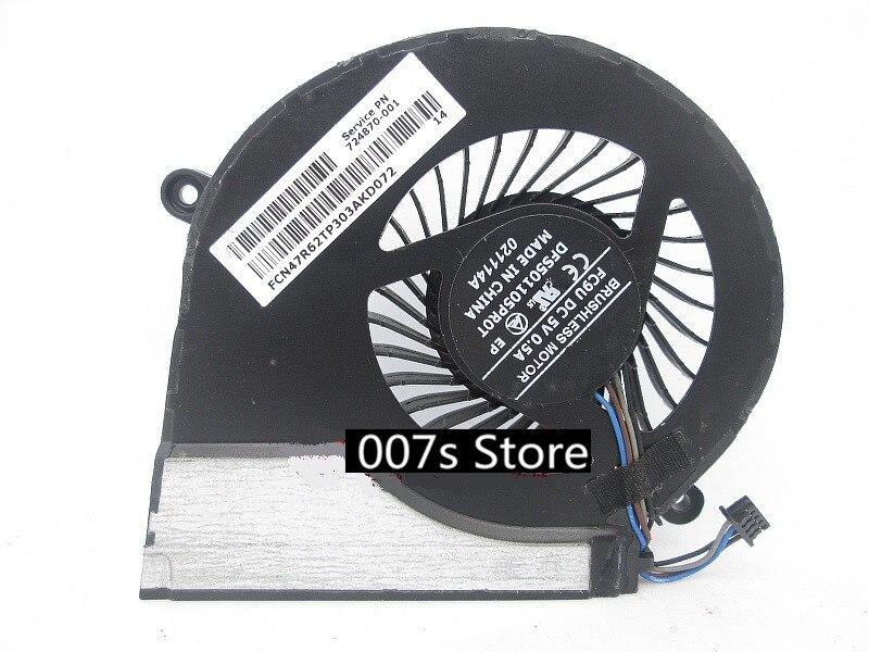 Ventilador de refrigeración Nueva CPU para HP TPN-Q117 Q118 Q122 724870-001 Pavillion 17 portátil CPU Cooler DC 5V 0.5A para FCN DFS501105PR0T
