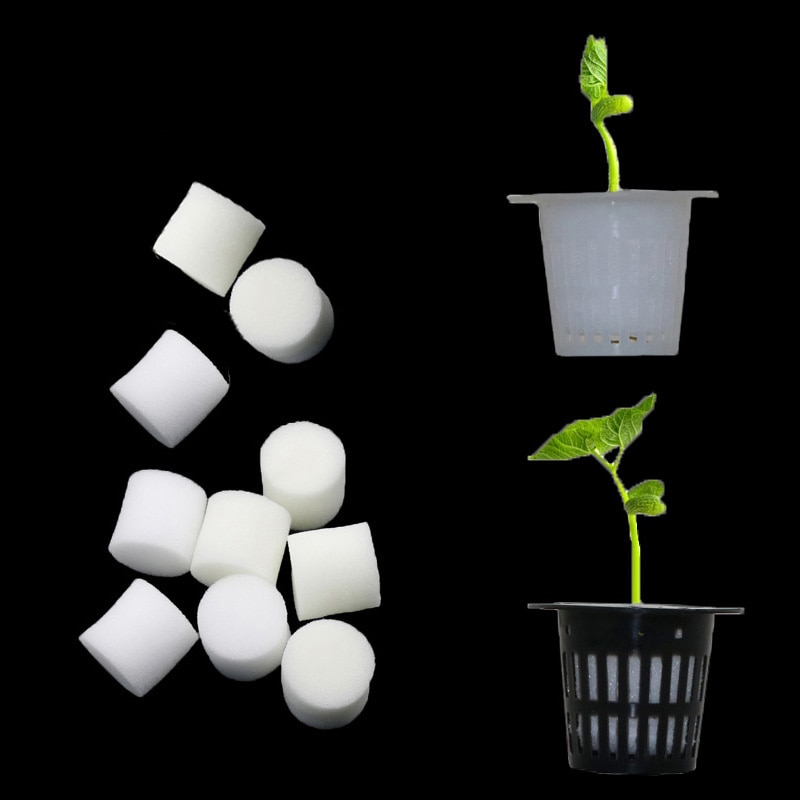 Macetas hidropónico sin tierra para vivero de verduras, esponja para vivero, semillas de flores, sistema de cultivo sin semillas
