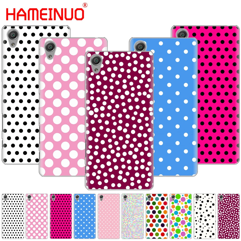 HAMEINUO Polka Dots pink girl Cover phone Case for sony xperia C6 XA1 XA2 XA ULTRA X XP L1 L2 X compact XR/XZ/XZS PREMIUM